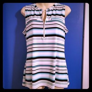 NY&C striped blouse, with zipper